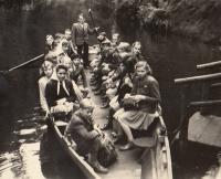 On a school trip in Hřensko, 1944