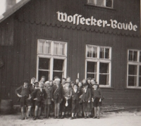 On school trip to Luční Bouda in 1943 (Josef Tvrzník in the first row - third from the left)