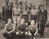 In Scout, 1945 (Josef Tvrzník in the second row - second from the left)