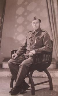 Stepfather Václav Vondráček in the Czechoslovak army corps