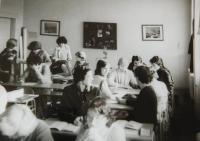 Hana Ryšková (Holcnerová) at a gymnasium in Brno