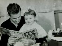 Hana Ryšková (Holcnerová) with Father Ernest Ryška