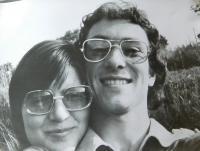 Hana Ryšková (Holcnerová) with a boyfriend in 1978