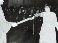 Hana Ryšková (Holcnerová) během inaugurace