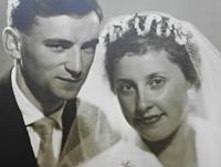 The wedding with Helena Uhrová in Týn Church , July 1, 1961