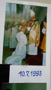July 10, 1993 the bishop Liška of Litoměřice ordained him a deacon