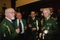 Lieutenant-general Miroslav Kácha with Stanislav Auský (first left)