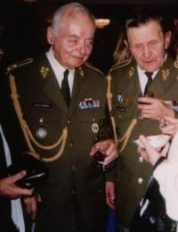 Lieutenant-general Miroslav Kácha with general Antonín Husník December 2003