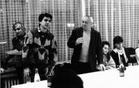 Fabinger – meeting with Miroslav Horníček 1989