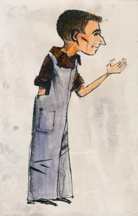 Fabinger Jiří – caricature, Ota Mašek 1958