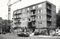 Fabinger - construction of apartment buildings in Jeremenkova street, 1969