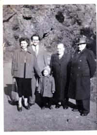 With his parents, wife and daughter Ivanka, 1951