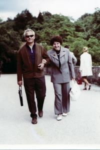 With his wife in Prague, about 1963
