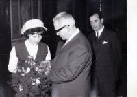 The second wedding with the first wife, Roztoky, 1969