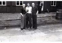 S.Caslavka in glasses in Berlin - forced labour camp - with his friends, 1943