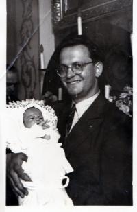 Christening of the son Stanislav, Roztoky 1949