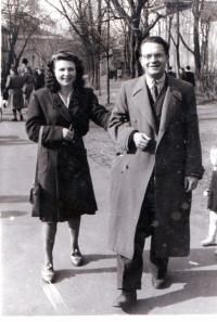 With his future wife strolling about the Stromovka, Prague 1947