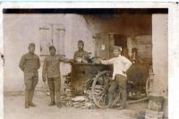 His father Josef Časlavka, 2nd left, as a cook in Italy during WWI, 1917