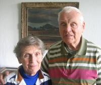 Jiří Hovorka with his wife in 2009