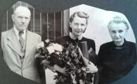 Sister Eva with parents