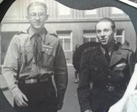 Miroslav Soukup on the right, Scout in 1945