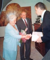 Miroslav Soukup with wife at their golden wedding in 2010
