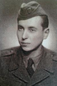 Miroslav Soukup in the army in 1950 - 1952