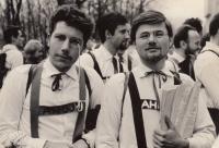 Jiří (right); Majáles festival in Prague; spring of 1964