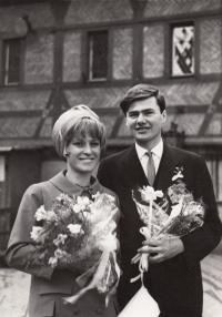 Wedding; Karlštejn; 25 March 1967
