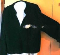 A sweatshirt wore by Jiří when shot by a Soviet soldier