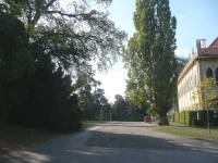 Place (left) where wounded Jiří was brought by the Soviet soldiers,; Stromovka