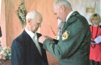 Koloman Hamar celebrating his 90th birthday, being awarded the Slovak Minister of Defence Medal of III. degree, and the War veteran badge