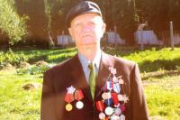Koloman Hamar wearing his badges of honour