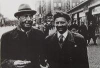 J.M. Dobrodinský with his teacher V. Talich