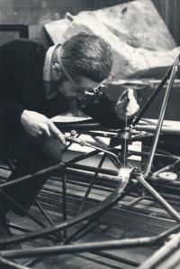 Jindřich Leinweber Constructing A Hovercraft (1960s)