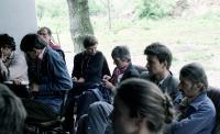 János Kenedi, Gyula Kozák, Mária Pap, Ottilia Solt, Gábor Demszky, András Nagy in Perőcsény, 1987