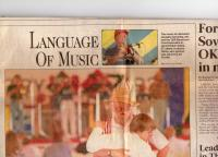 """""""Sacramento Bee"""" paper from May, 1992 covering T&R band from Bratislava"""