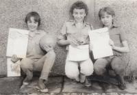 David Kabzan, left, 1980