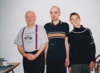 David Kabzan with his son and father, 2001