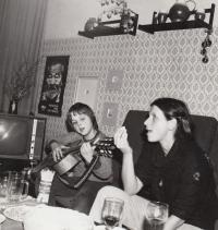 David Kabzan with his mother, c. 1978