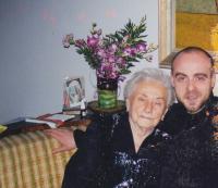 David Kabzan with his grandmother Dr Zdena Kabzanová