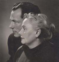His grandmother Dr Zdena Kabzanová and his grandfather Jan Kabzan