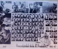 Graduation photographs of the Economic School in Klášterní Hradisko, where also Anna Schreiber graduated