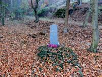 War grave at Hraničky where Otto Krejci and Frantisek Svec were shot on 7 May 1945