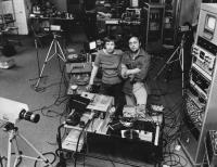The Vasulkas in their Buffalo studio (NY, United States), circa 1977.  (The photo may be used for educational purposes only.)
