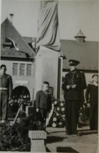 Little Jiří during a commemorative act after the war