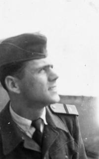Beránek Jiří na vojně, 1955