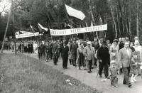 Průvod na 1.máje, Aerovka, 50.léta
