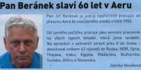 Časopis Zpravodaj Aero, článek o Jiřím Beránkovi,2013