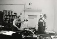 1995 - Karel Benes in his workroom